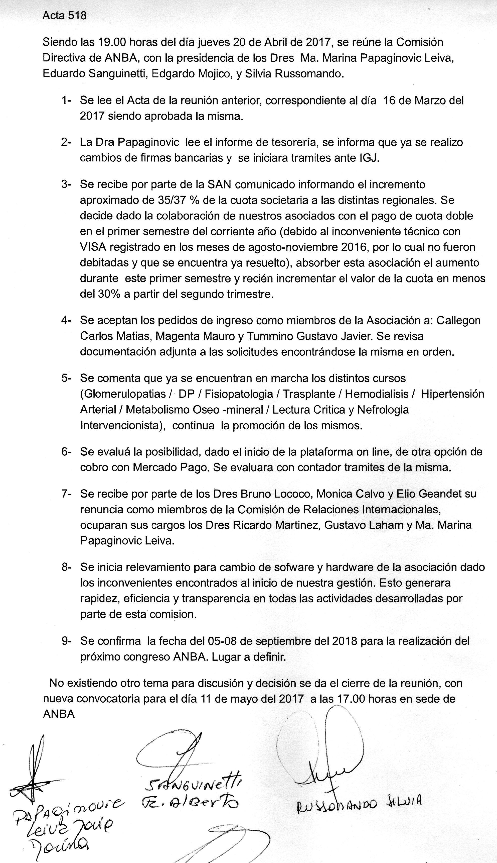 Plenarios y Asambleas « ANBA : Asociación Nefrológica de Buenos Aires